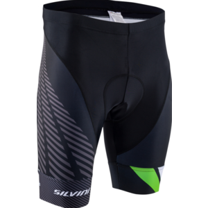 Męskie rowerowe szorty Silvini Team MP1407 black-green, Silvini