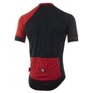 Rowerowy bluza RogelliCONTENTO z gładkiego materiału, czarno-czerwony 001.084., Rogelli