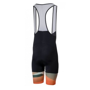Szorty rowerowe Rogelli ARTE z żelową podszewka, czarno-pomarańczowe 002.268., Rogelli