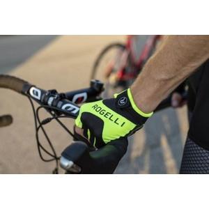 Rowerowe rękawice Rogelli ARIOS, odblaskowy żółte 006.001., Rogelli