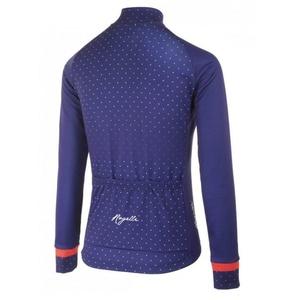 Grzejący damski koszulka rowerowa Rogelli PRIDE z długim rękawem, niebieski i różowy 010.181., Rogelli