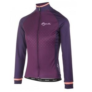 Grzejący damski koszulka rowerowa Rogelli PRIDE z długim rękawem, winowy 010.182., Rogelli