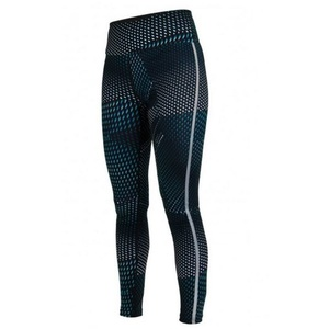 legginsy Salming Split Tights Women Deep Teal AOP, Salming