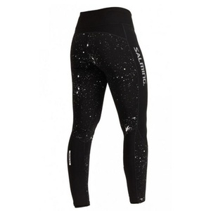 legginsy Salming Split Tights Women Black/ Silver Reflective, Salming
