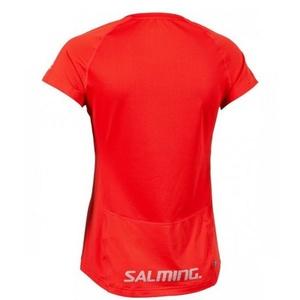 Damskie koszulka Salming Laser Tee Women Poppy Red Melange, Salming