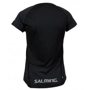Damskie koszulka Salming Laser Tee Women Black Melange, Salming