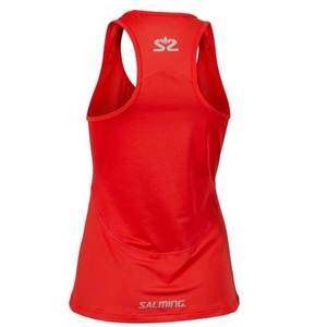 Damskie podkoszulka Salming Laser Tank Women Poppy Red Melange, Salming