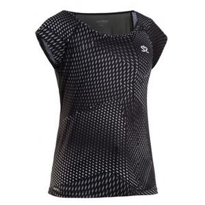 Damskie koszulka Salming Breeze Top Women Black AOP, Salming