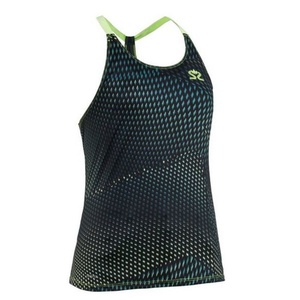 Damskie podkoszulka Salming Breeze Tank Women Deep Teal AOP / Sharp Green, Salming