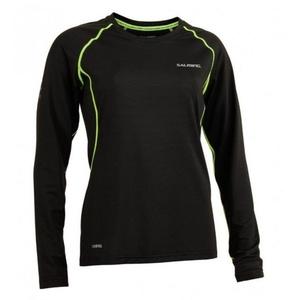 Damskie koszulka Salming Balance LS Tee Women Black / Ostry Lime, Salming