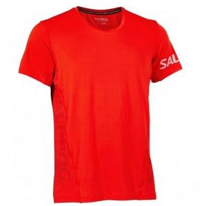 Męskie koszulka Salming Laser Tee Men Fiery Red, Salming