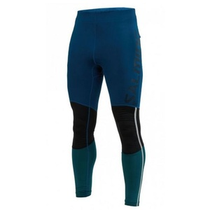 Męskie legginsy Salming Grand Tights Men Posiedon neuvedenobieski / Black Teal, Salming