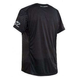 Męskie koszulka Salming Breeze Tee Men Black AOP / czarny Melange, Salming