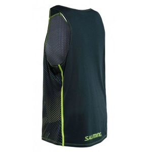 Męskie koszulka Salming Breeze Tank Men Sharp Lime AOP / Deep Teal Melange, Salming