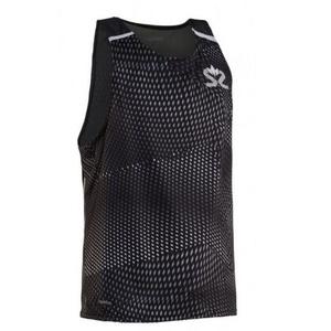 Męskie koszulka Salming Breeze Tank Men Black AOP/Black Melange, Salming