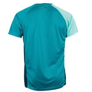 Męskie koszulka Salming Bold Print Tee Deep Teal / Lapis, Salming