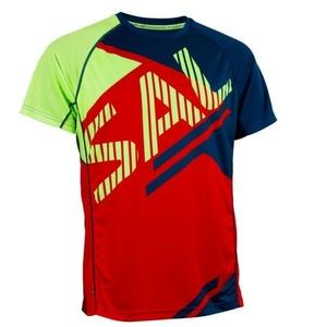 Męskie koszulka Salming Bold Print Tee Red / Blue, Salming