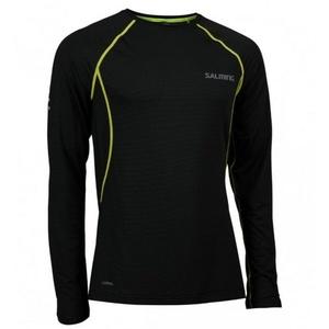 Męskie koszulka Salming Balance LS Tee Men Black, Salming