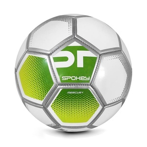 Spokey MERCURY Futbolowa piłka rozmiar. 5 szaro-zielony