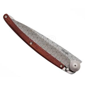 Kieszonkowy nóż Deejo 1CB042 Tattoo iluzja 37g, coralwood, Deejo