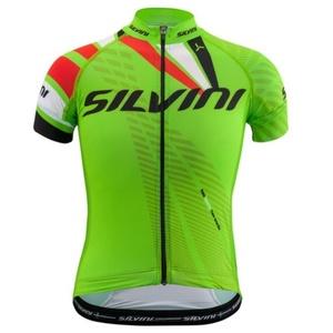 Dziecięcy rowerowy bluza Silvini Team CD1435 green-red, Silvini