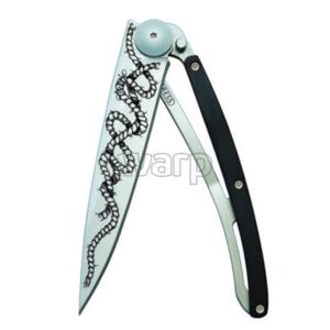 Kieszonkowy nóż Deejo 1CB045 Tattoo 37g ebony wood, Rope, Deejo