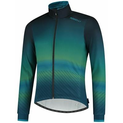 Ultralekka rowerowa kurtka Rogelli SOUL, niebiesko-zielony 003.418