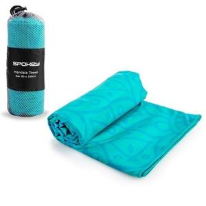 Spokey MANDALA Szybkoschnący plażowy ręcznik turkusowy 80x160cm, Spokey