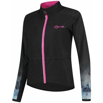 Damska do biegania kurtka Rogelli MARMUR, czarno-różowy 840.852, Rogelli