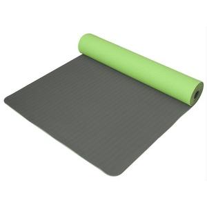 Podkładka do jogę Yoga Mat dwuwarstwowa, materiału TPE zielony / szary, Yate