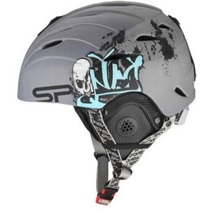 Spokey ALBERTA narciarska kask siwy z graffiti rozmiar. M, Spokey