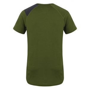 Męskie merynos koszulka Husky Dog khaki, Husky