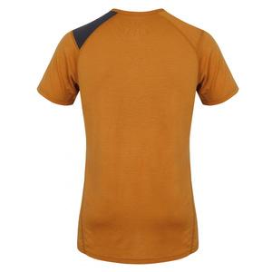 Męskie merynos koszulka Husky Wolf brązowo-pomarańczowe, Husky