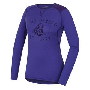 Damskie merynos koszulka Husky Puppy szarawy fiolet, Husky