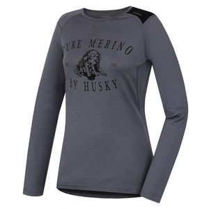 Damskie merynos koszulka Husky Puppy siwy, Husky
