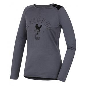 Damskie merynos koszulka Husky Sheep siwy, Husky