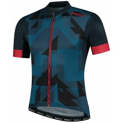 koszulka rowerowa Rogelli BRISK z krótkim rękawem, niebiesko-czarno-czerwony 001.024, Rogelli
