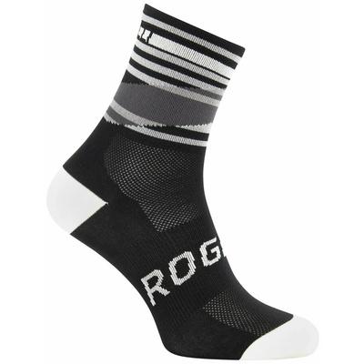 Projekt funkcjonalne skarpety Rogelli STRIPE, czarno-biały 007.203, Rogelli