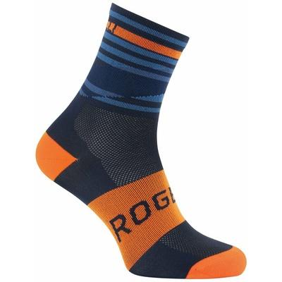 Projekt funkcjonalne skarpety Rogelli STRIPE, pomarańczowo-niebieski 007.205, Rogelli
