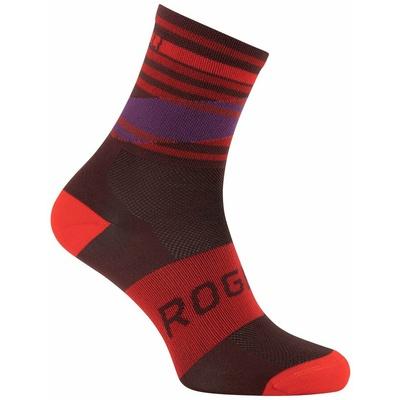 Projekt funkcjonalne skarpety Rogelli STRIPE, czerwono-bordowo-fioletowy 007.206, Rogelli
