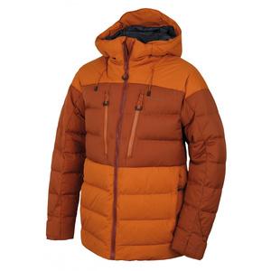 Męska puchowa kurtka Husky Dester M brązowo-pomarańczowy / brązowy, Husky
