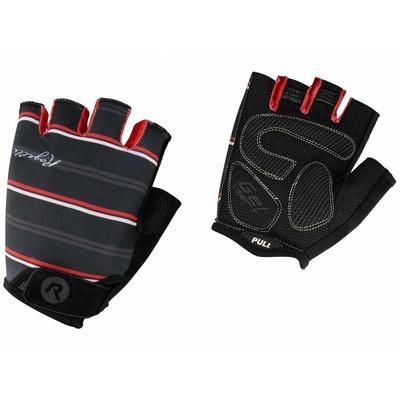 Damskie rękawice do rower Rogelli STRIPE, czarno-biało-czerwony 010.619, Rogelli