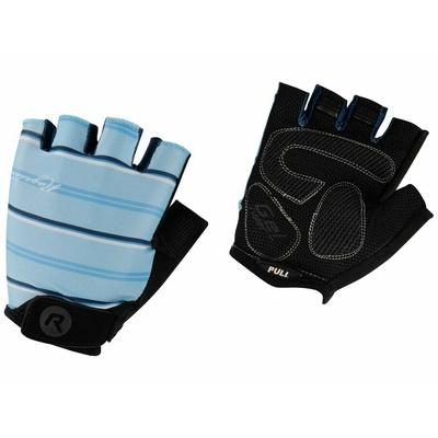 Damskie rękawice do rower Rogelli STRIPE, jasno niebieski niebieski 010.620, Rogelli