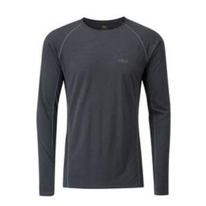 Męskie koszulka Rab Merino+120 ebony, Rab