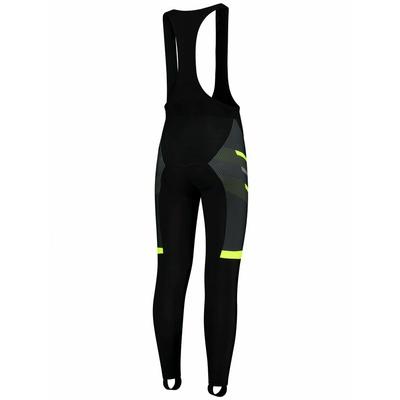 Powerno grzejące rowerowe spodnie Rogelli TEAM 2.0 z żelową podszewka, czarno-odblaskowa żółte 002.970, Rogelli