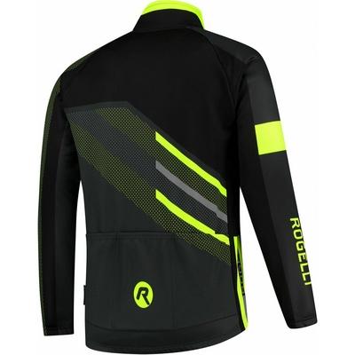 Membranowa rowerowa kurtka Rogelli TEAM 2.0, czarny odblaskowy żółty 003.970, Rogelli