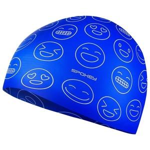 Juniorska pływacka czapka Spokey EMOJI niebieska, Spokey