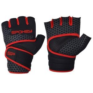 Neoprenowe fitness rękawice Spokey LAVA czarno-czerwone