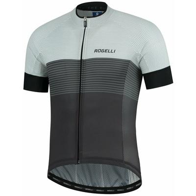 Aerodynamiczny wyścigowa koszulka rowerowa Rogelli BOOST z krótkim rękawem, szaro-biały 001.117, Rogelli