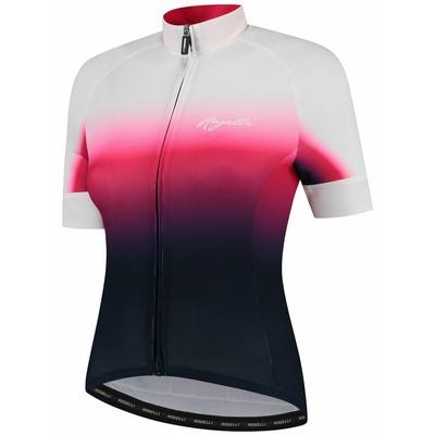 Damski premium koszulka rowerowa Rogelli DREAM z krótkim rękawem, niebiesko-różowo-biały 010.091, Rogelli